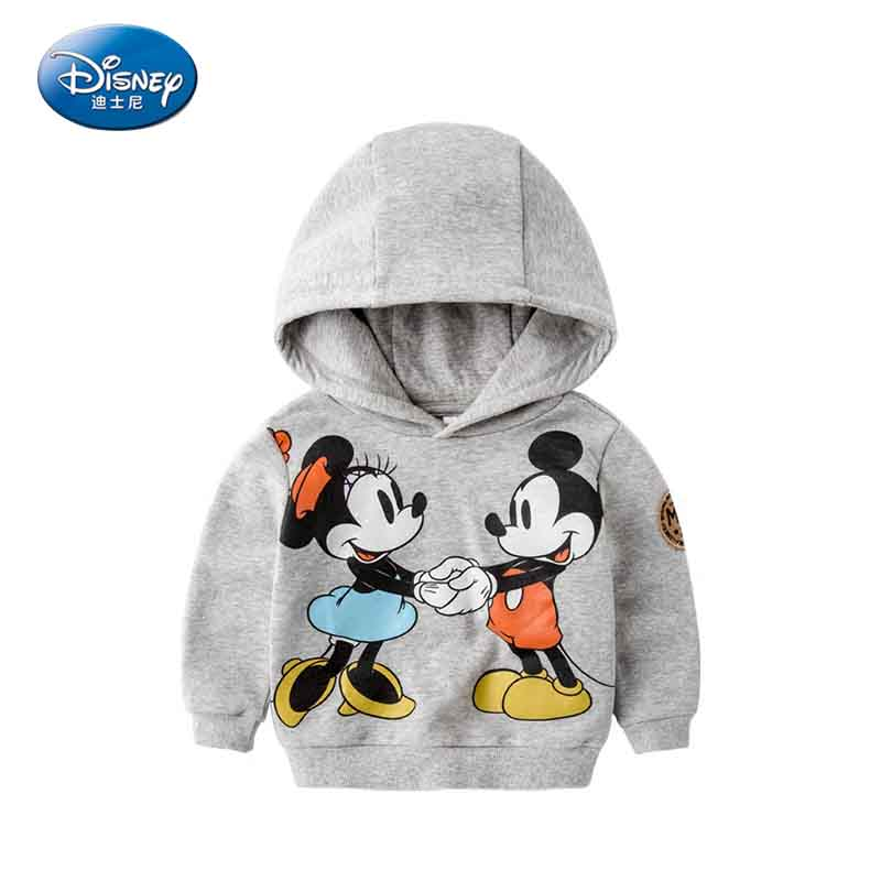 Disney 2017 New Cartoon Mickey Mouse Cute Coat Baby Comfortable Clothes Hooded Jacket Child Casual Cotton Fall Jacket