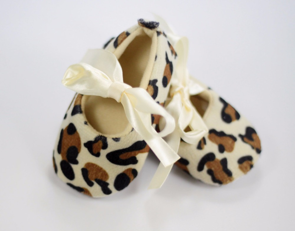2016 spring baby girl first walker shoes newborn toddler girl bowknot bow soft sole shoes sapatos infantil Leopard pattern shoes