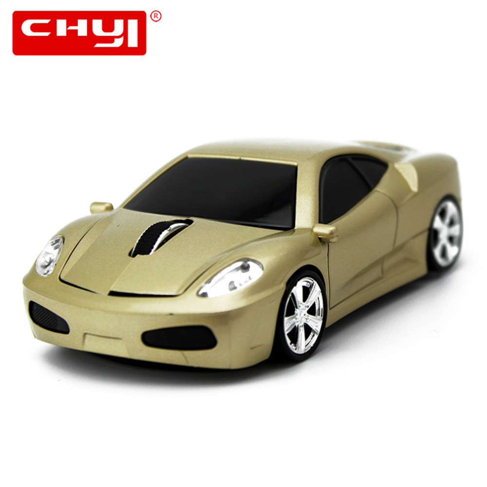 Miu Wireless CHYI 2.4GHZ Mini Sport Optik Car Mice Cool 1600DPI Gamer Lojëra Mause Shitje e Lartë Mouse për Laptop Kompjuterik