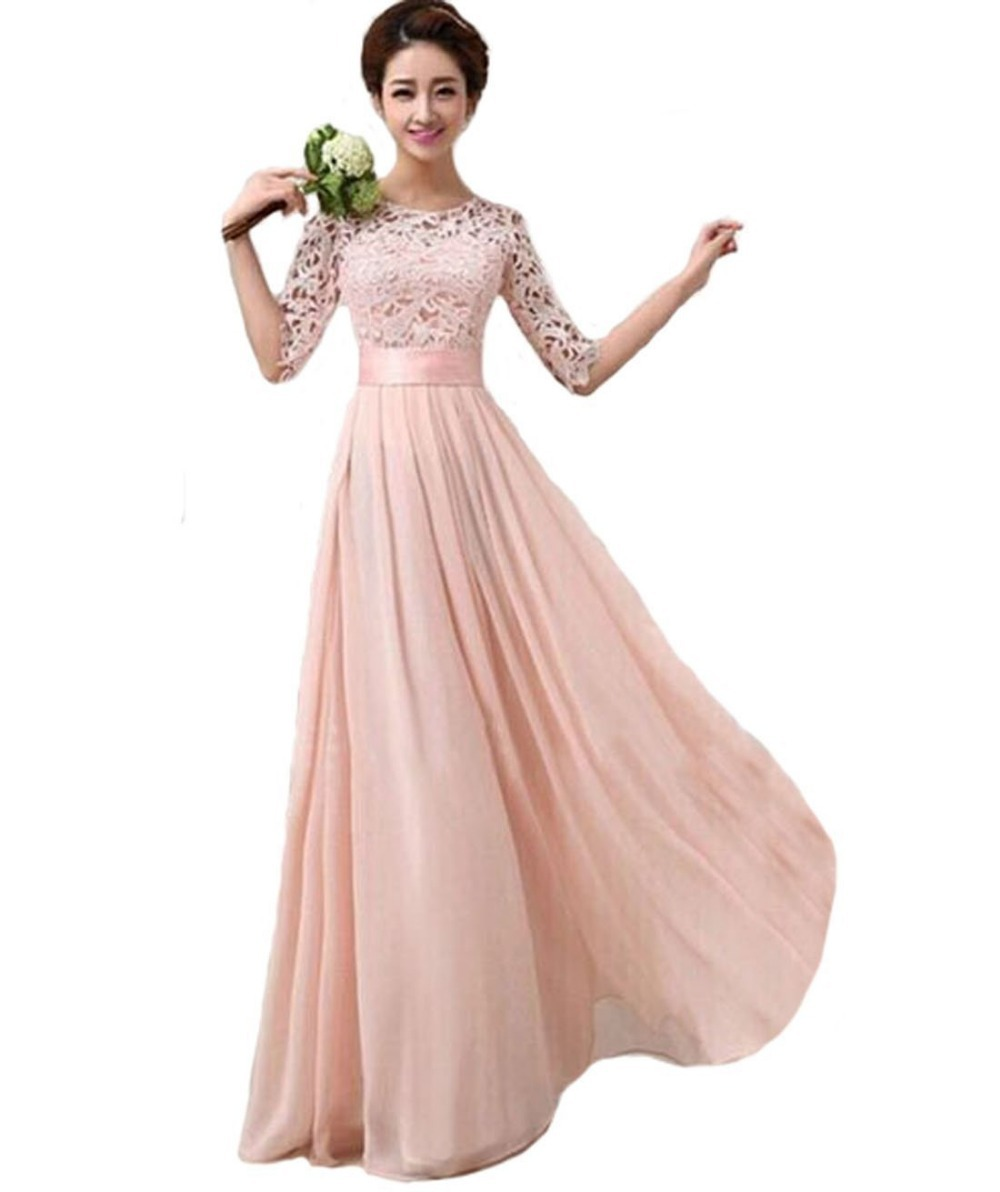 2016 Amoin Women\'s Gorgeous Elbow Sleeve Sexy Elegant Prom Dress-in ...