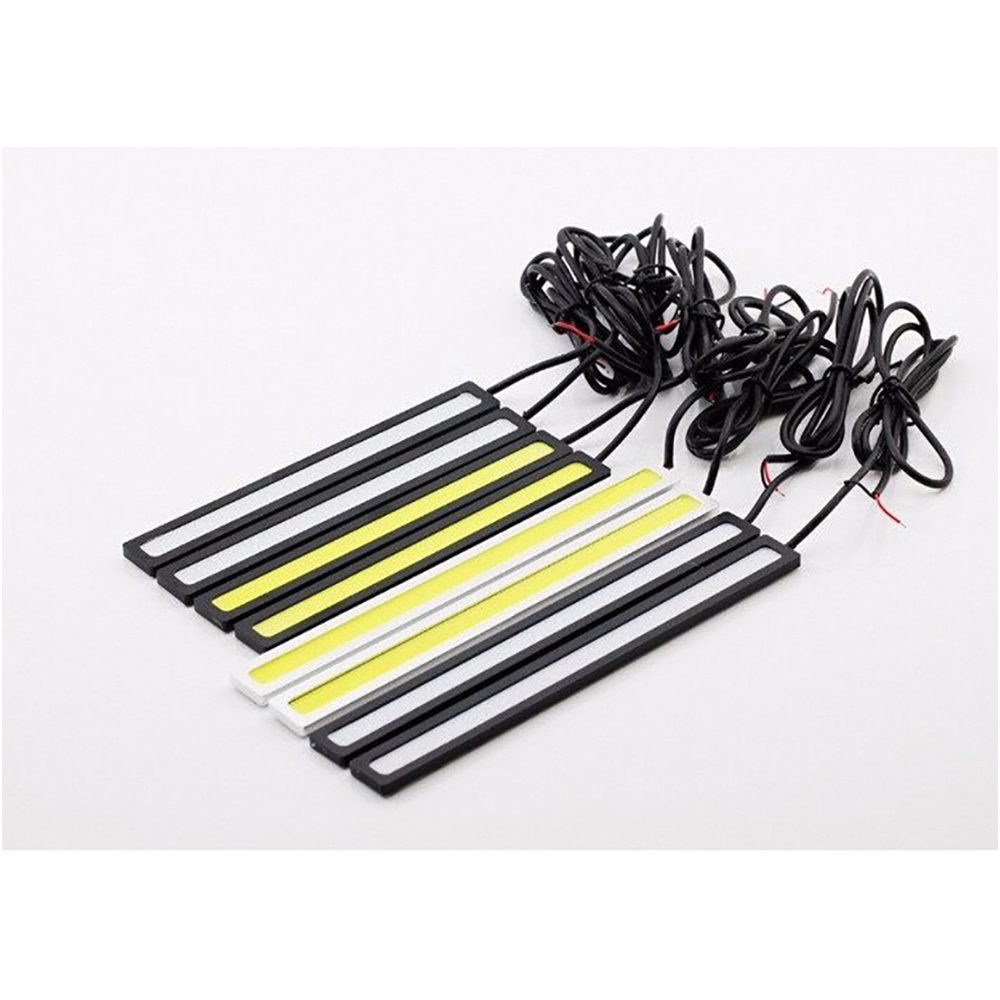 GEETANS 6 PCS COB LED Daytime Running Lights DRL 14-17 cm Tahan Air - Lampu mobil - Foto 2