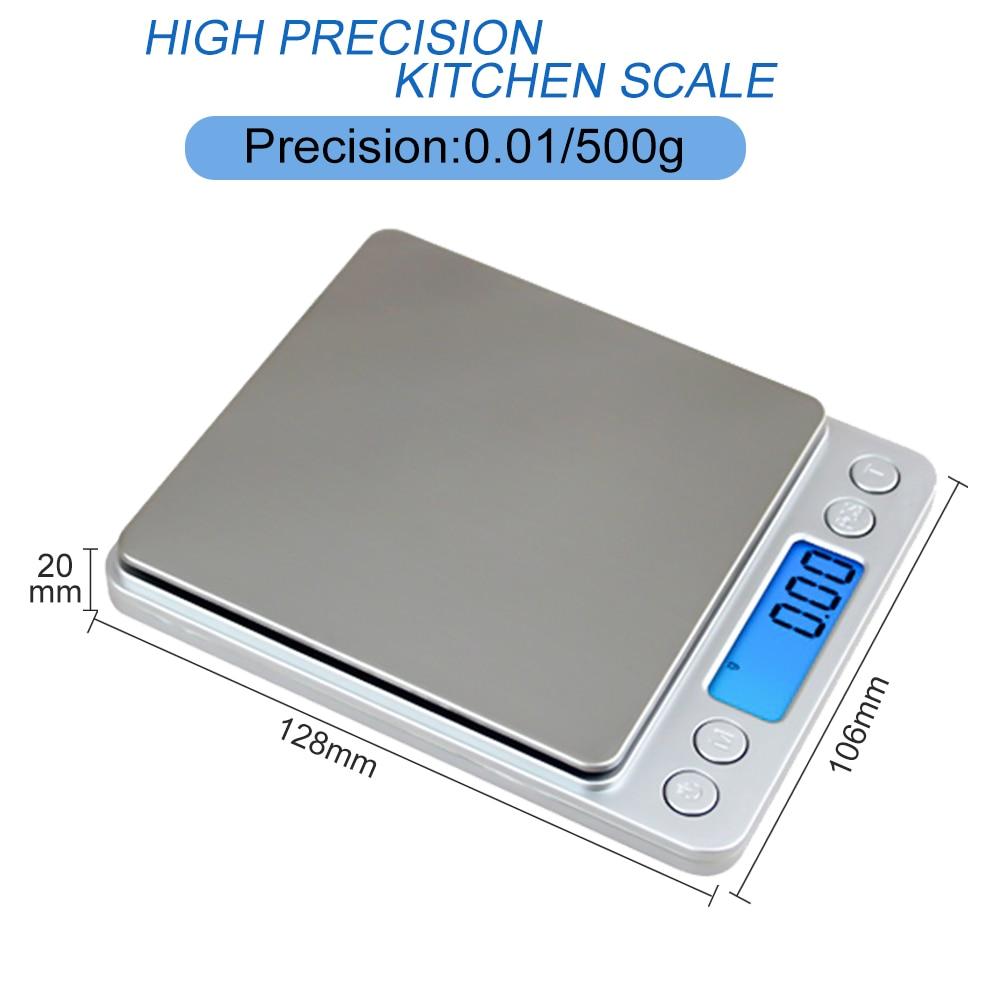 500g * 0.01g Escala digital de precisión de bolsillo Gram Plataforma - Instrumentos de medición - foto 2