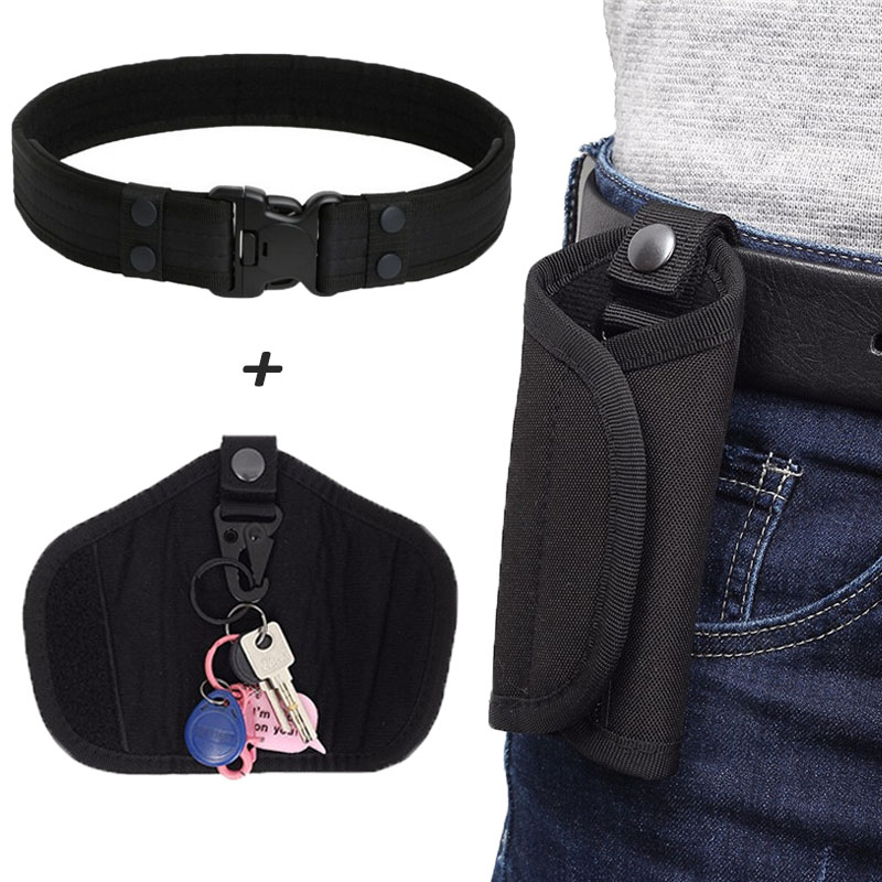 Tactical Key Pouch Military Belt With Key Case Outdoor Key Wallets Holder Keychain Waist Bag Outdoor Hunting Fanny Pack