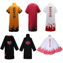 Anime Naruto Cosplay Costumes Akatsuki Itachi Uchiha Minato Namikaze Uzumaki Cloak Hooded Cape Coat Halloween