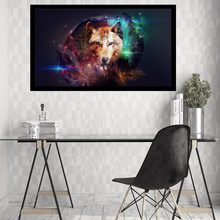 Large Pictures 3D Animals Wolf Paintings on The Wall Canvas Decorative Paintings Art Prints Posters for The Kitchen PP039(China)