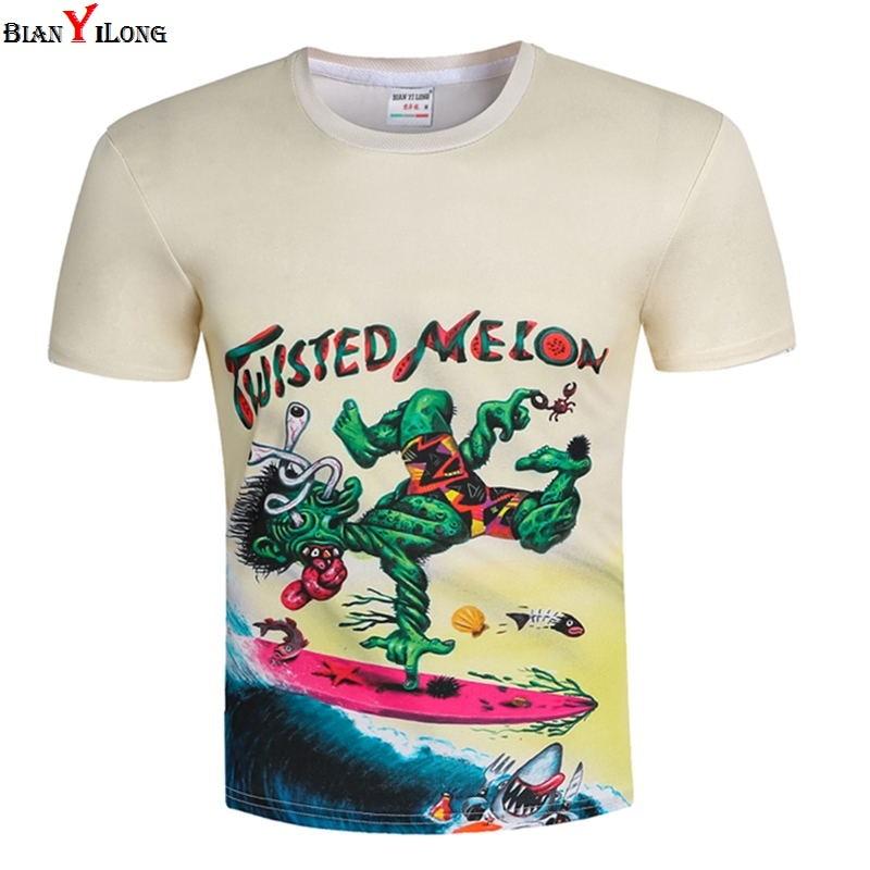 Fashion Men/Women Green Monster T-shirt 3d Print Fitness Short Sleeve Brand Clothing T shirt Mens Clothes Summer Tops Tees