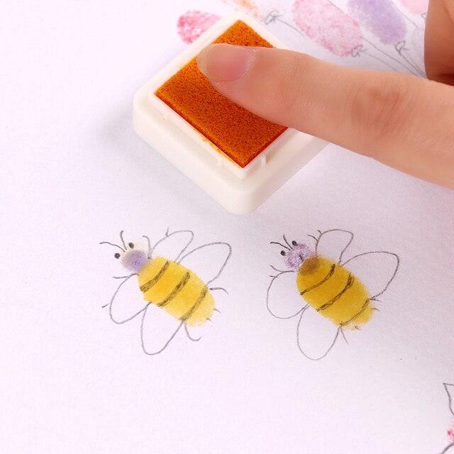 24 teile/satz Bunte Nette Tinte Pad Kinder DIY Fingerprint Malerei Schreibwaren Schlamm Hausgemachte Vintage Handwerk Ink Pad