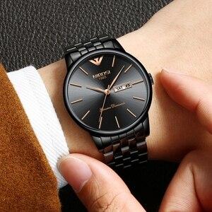 Image 5 - NIBOSI Simple Style mode hommes montre à Quartz de luxe semaine Date en acier bande étanche décontracté hommes montre bracelet Relogio Masculino