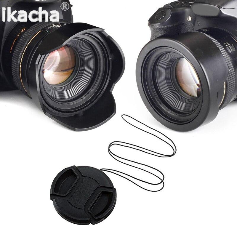 Reversível Capa de Lente 52mm 58mm 55mm 62mm 67mm 72mm 77mm Flor Rosca de filtro + Lens Cap Para Canon Para Nikon Para Sony