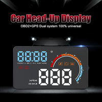 D2500 HUD OBD2+GPS Head Up Display all vehicles Overspeed Warning System Speed Projector Voltage Alarm