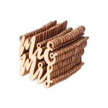 15Pcs/set Wooden MR&MRS Wood Chip Vintage Rustic Wedding DIY Party Decor