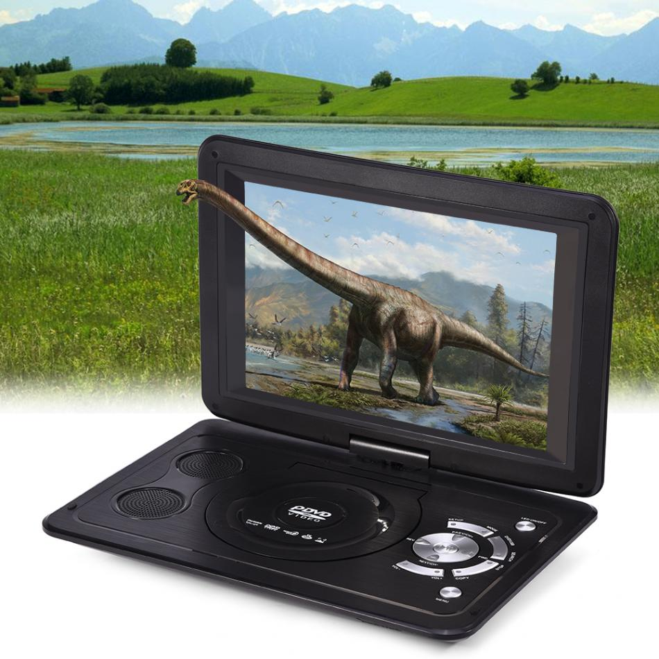 Powstro 13 9 inch 110 240V HD TV Portable DVD Player 800 480 Resolution 16 9