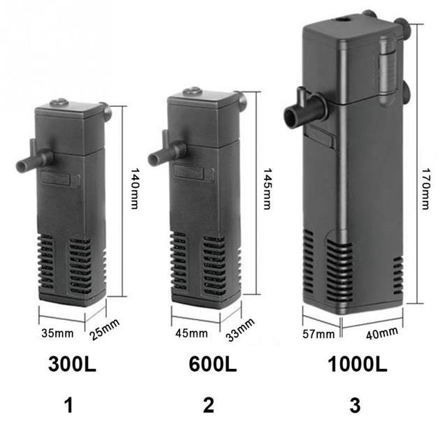 Вт 3 Вт/4 Вт/8 Вт аквариум Внутренний фильтр погружной фильтр для аквариума водный спрей поток биологический плюс мощность фильтр насос