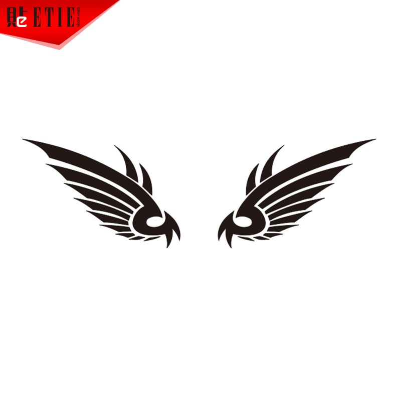 Etie adhesive vinyl wing decals auto decoration automobile sticker design for motorcycle car styling motor wrap accessories in car stickers from automobiles