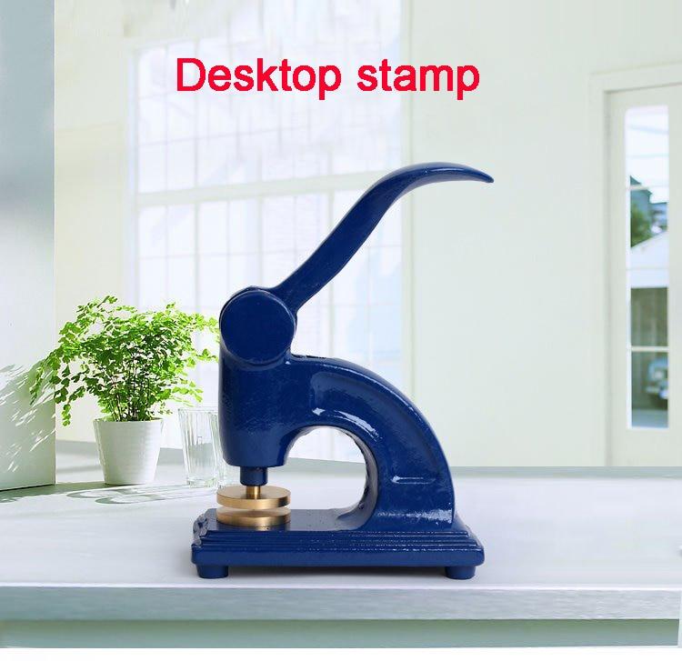 Manual Press Bench-top Business Embosser Seal Envelope Wedding Sealing Desktop Stamp Bump Copper Mold Heavy-duty Steel Stamp