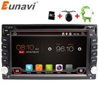 Eunavi Универсальный 2 DIN Android 6.0 dvd-плеер автомобиля GPS + WiFi + Bluetooth + радио + Quad Core + DDR3 + емкостный Сенсорный экран + ПК автомобиля + стерео