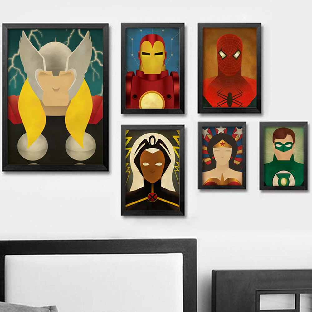 Superhero Avenger Flash Cartoon Marvel Comics Canvas Paintings Art Print Poster Picture Wall Painting Home Decoration image
