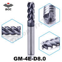 ZCC CT GM 4E D8 0 Solid Carbide 4 Flute End Mills With Straight Shank General