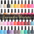 D103-133 Lavender Violets Soak Off UV LED Color Nail Gel Polish 8ml With Packing Box