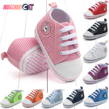 New Canvas Baby Sneaker Sport Shoes for Girls Boys Newborn Walker Infant Toddler Soft Bottom Anti-slip