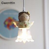 Bênção do Anjo Pingente Luzes para o Quarto das Crianças Dos Miúdos Do Quarto Lâmpadas Lâmpada de Suspensão Moderna Luminária de Iluminação de Suspensão Luminárias Luzes de pendentes     -