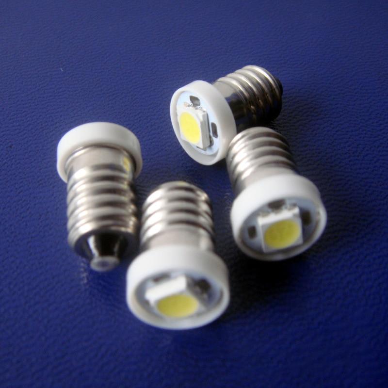 DC12V 12V E10 Led Bulb  6V LED Lamp White Warning Signal 3V 6v Small Light Bulbs Physical Experiment Indicator