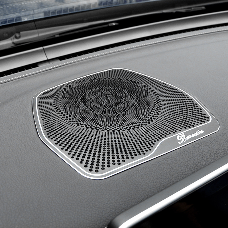EUGNN Car Door Stereo Speaker Cover Trim,for Mercedes Benz C Class W205 2015 2016 2017 Car Accessories Stainless Steel Tweeters Speaker Cover Trim Sticker