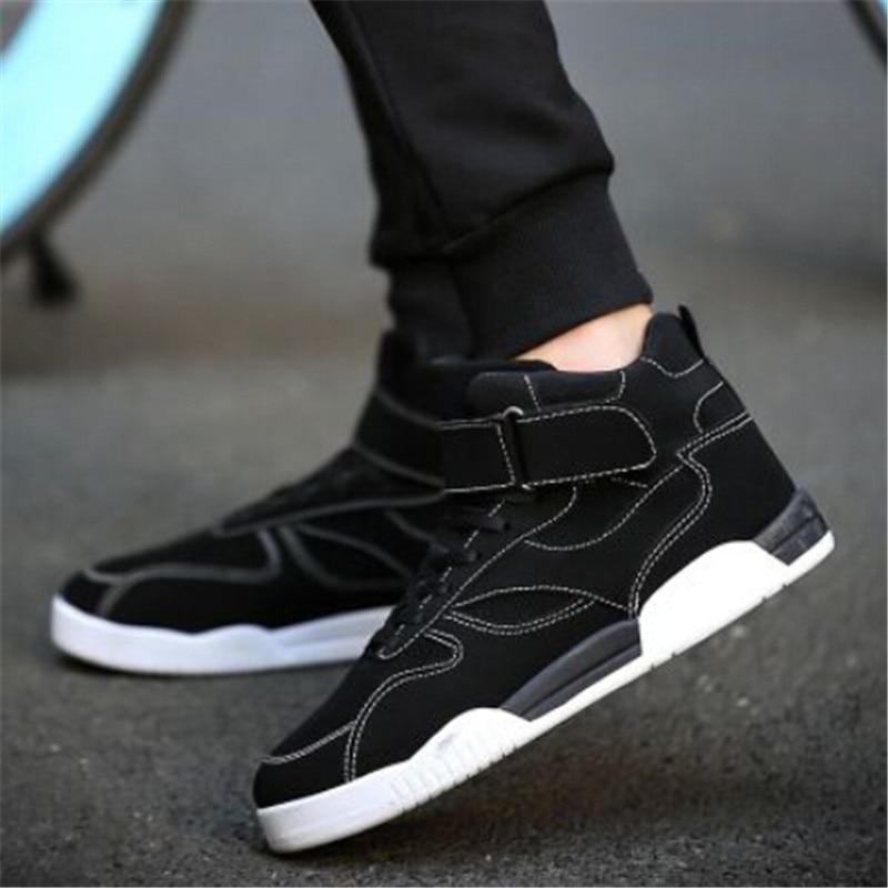 Prix pour Populaire haute sneakers hommes planche à roulettes chaussures toile sneakers pour hommes sport chaussures sneakers Hip-Hop hommes