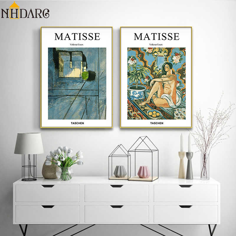 Henri Matisse Fashion Design Art Posters and Prints Canvas Painting Wall Pictures for Living Room Abstract Scenery Home Decor