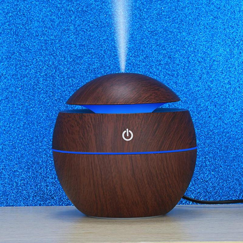 130Ml Multi Colours Aroma Essential Oil Diffuser USB Electric Air Humidifier With 7 Colours Changing LED Lights