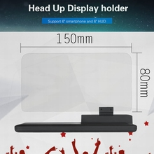 Universal H6 Smartphone Projector HUD Head Up Display Holder Car GPS Navigator Car Mount Stand Phone Holder Black Non-slip Mat