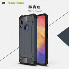 hot deal buy sfor xiaomi redmi note 7 case shockproof armor rubber phone case for redmi note 7 back cover redmi note 7 coque fundas