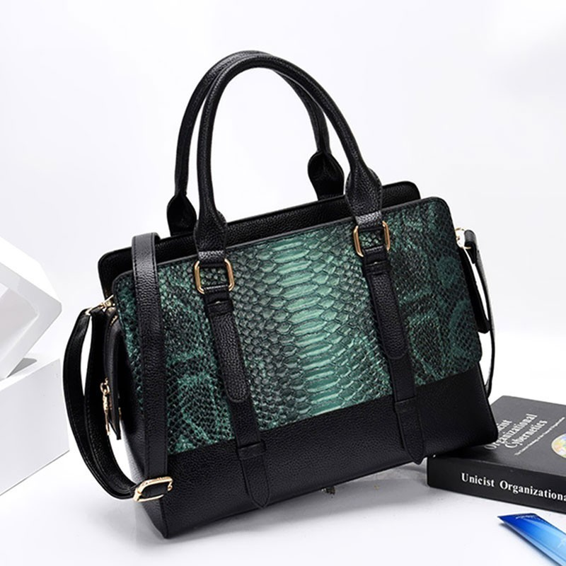 Fashion Serpentine Leather Handbag Snake Bags For Women 2019 Luxury Handbags Women Bags Designer Crossbody Shoulder Bag Sac S816