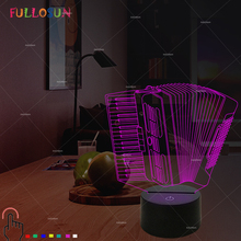 Colorful Accordion LED Table Lamp Baby Kids 3D Night Light Novelty USB Lamp for Sleeping Bedroom Decorative Lighting novelty 3d visual acrylic led night light nba basketball usb lighting bedroom table lamp colorful gradient atmosphere lamp gx092
