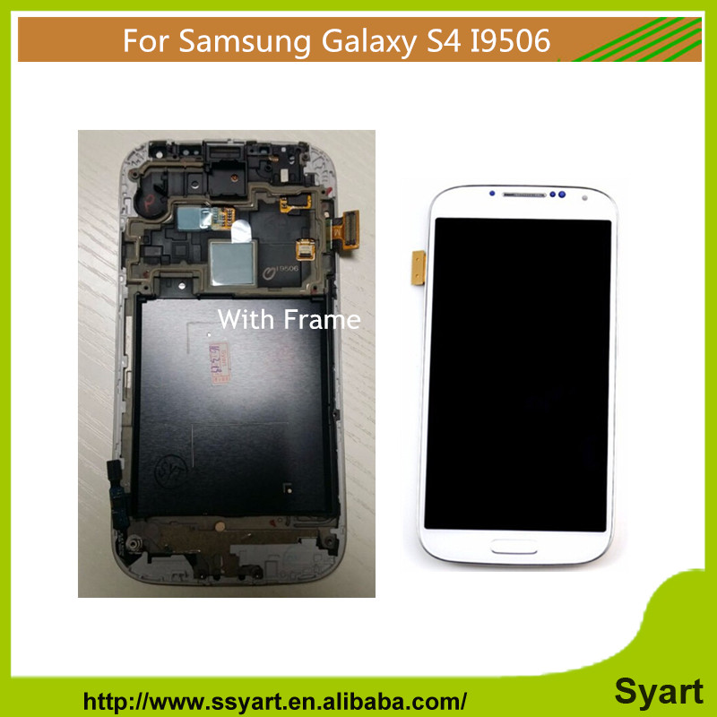 AAA quality 2PCS for s4 i9506 Replacement LCD complete For Samsung Galaxy S4 I9506 LCD Display Touch screen Digitizer With Frame