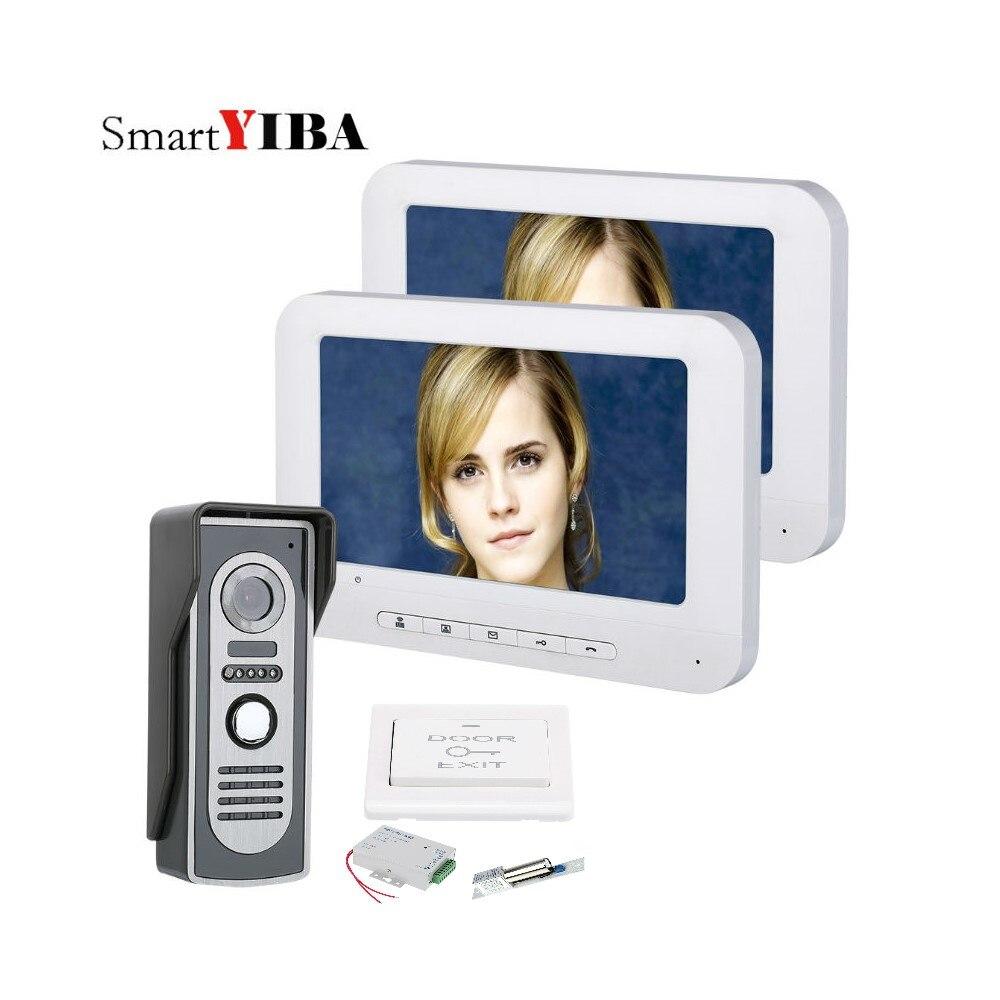 SmartYIBA 7 LCD Wired Video Doorbell Door Phone Intercom Home Security System with 700TVL IR Night