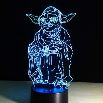 Novelty Lights Star Wars Master Yoda Child Nightlight USB Battery Atmosphere for Kids Bedroom Decorative 3d Led Night Light Lamp