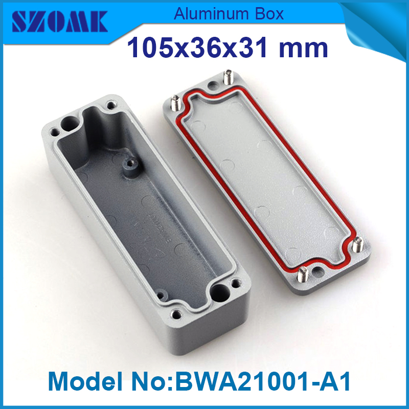 4 pieces aluminium housing enclosure waterproof junction box electronics 31(H)x36(W)x105(L) mm барбекю steba vg 101