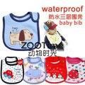 5 ШТ./ЛОТ Смешанная продаж хлопка нагрудники водонепроницаемый младенческой нагрудники (отправить по мальчиков или девочек