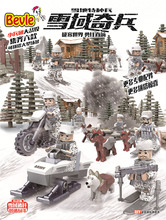 Bevle D174 4Pcs/lot Soviet Army Snowfield Counterattack Second World War Building Blocks Toy Compatible with Lepin SWAT Team
