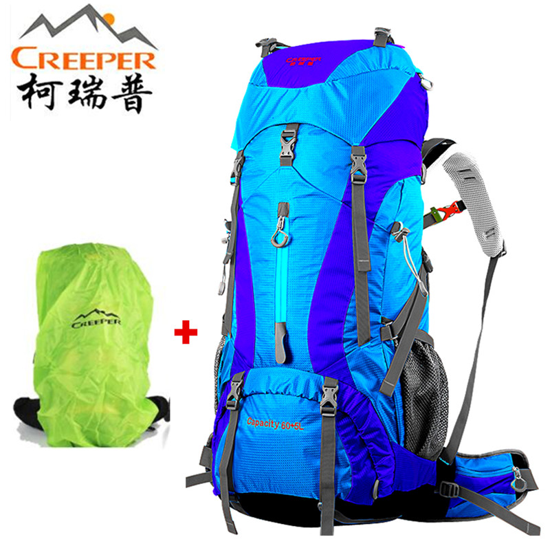 Creeper 65L Climbing Hiking Backpack 2018 men Waterproof Rain Cover Bag Camping Mountaineering Backpacks Sport Outdoor Bike Bag цены