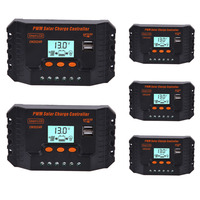 Wyświetlacz LCD Dual USB Panel Słoneczny PWM Regulator Regulator Ładowania Baterii 12 24 V 10/15/20/25/30A