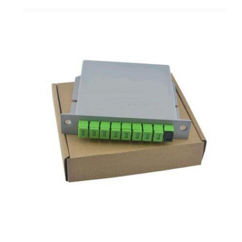 10PCS/packet SC APC PLC 1X8 Splitter Fiber Optical Box FTTH PLC Splitter Box With 1X8 Planar Waveguide Type Optical Splitter