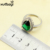 925 Prata Gota de Água Conjunto De Jóias de Casamento Para As Mulheres Criado Verde Esmeralda Branco Topázio Brincos Pulseira Colar de Pingente Anéis