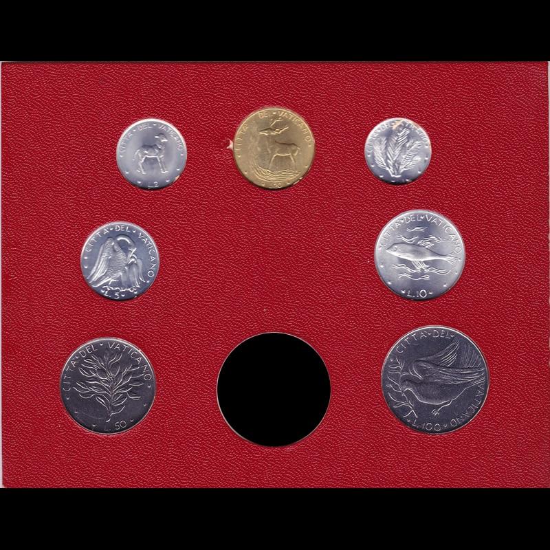 7pcs Vatican Coin 100% Original Coin  (1-50, 100 Lire) Gift Present