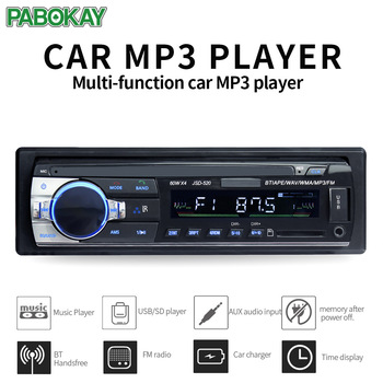 JSD520 ISO 12V Bluetooth Car Stereo In-dash 1 Din FM Aux Input Support Mp3/MP4 USB MMC WMA AUX IN TF  Radio Player 12v in dash 1din car multimedia player car stereo radio fm input receiver usb bluetooth autoradio auto mp3 music player