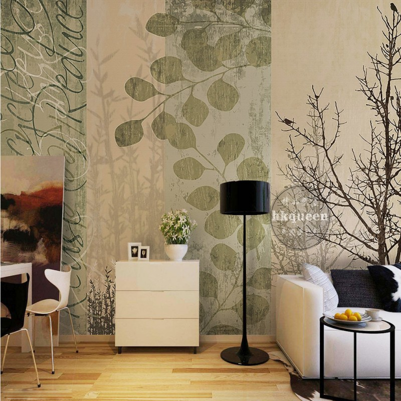 elegant background wall 3d simple living dining landscape bedroom nordic mural zoom wallpapers