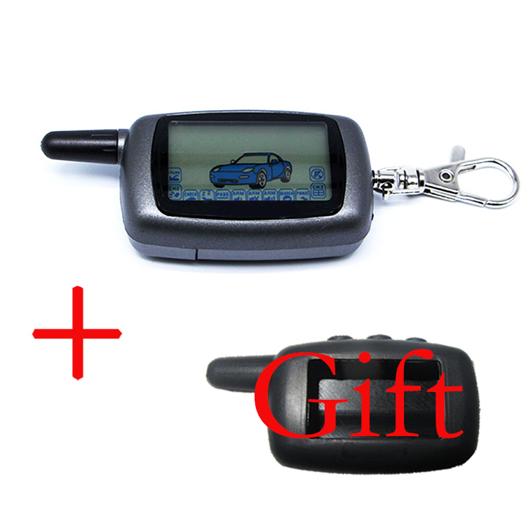 Two way LCD Remote Control Key Fob Silicone Key Case Cover for Russian Version Starline A6 Two Way Car Alarm System magicar 903 magicar 902 remote starter two way alarm car alarm system magicar