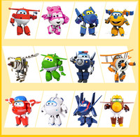 100 Brand New 12CM Super Wings Toys Mini Planes Transformation Robot Action Figures Toys For Christmas