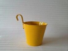 D15*H17CM Metal Planter pot garden Iron pot Hanging Planter Round Planter Yellow/White/Red Hanging Pot